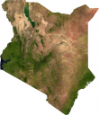 Kenya Satellite Map